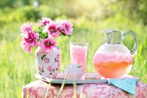 Summer Lemonade and Flowers